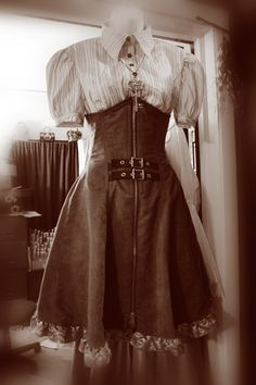 Steampunk High Waist/Corset Skirt From Jeanetics: $15 and a Thrift Store