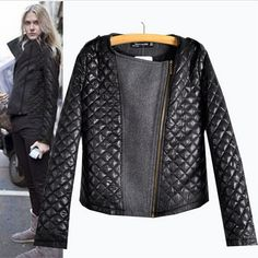 2016 New Arrival Autumn  Winter European Style Fashion Quilting Stitching Woolen Coats Ladies Long Sleeve Zipper Hot Sale