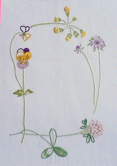 Field flowers alphabet - D   The French Needle   French Needlework Kits, Cross Stitch, Embroidery, Sophie Digard
