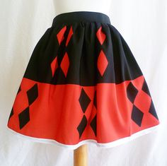 Harley Quinn Costume, Cosplay skirt, Harley Quinn By Rooby Lane