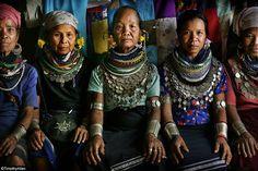 Bru Tribal elders at Naisingpara refugee camp, Tripura