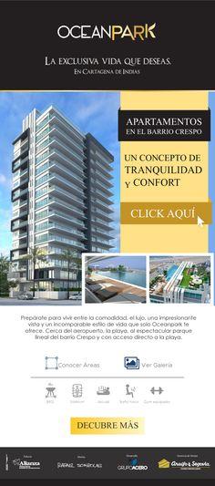 #NOVOCLICK esta con #Araújo&Segovia #OceanPark Apartamentos en Cartagena Ocean Park, E-mail Marketing, Desktop Screenshot, Banner, The Neighborhood, Cartagena, Lifestyle, Apartments, Buildings