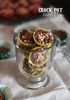 Crock Pot Candy... So easy and totally adaptable!  I made this with Hershey's semi-sweet chocolate chips, and Heath toffee bits!