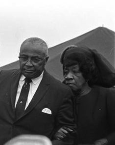 """On Sunday June 30 1974, Alberta Christine Williams King played """"The Lord's Prayer"""" on the organ of Ebenezer Baptist, the church where her father, A.D. Williams, her husband, Martin Luther King Sr., and son, Martin Luther King Jr., all had served as pastors."""