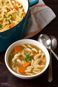 Homemade Turkey Noodle soup is the perfect soup for making with left over turkey! Tender chunks of leftover turkey, with carrots, celery, onion and egg noodles all simmered in a homemade turkey stock. This soup is perfect for using up those turkey leftovers! Turkey And Noodles Recipe, Turkey Noodle Soup, Turkey Broth, Turkey Stock, Turkey Leftovers, Leftover Turkey, Noodle Recipes, Soup Recipes, Homemade Turkey Soup