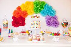 Rainbow Party Guest Dessert Feature | Amy Atlas Events