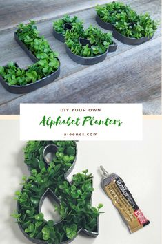 Check out how to make these letters with Aleene's®️ The Ultimate Multi-Surface Adhesive™️.