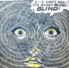 Blind | Eyes | Retro Illustration | Vintage Comic Book Pop Art