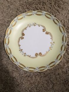 Small White Flowers, Decorative Plates, Porcelain, Hand Painted, China, Antiques, Unique Jewelry, Handmade Gifts, Gold