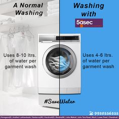5asec uses only 50% of the water to wash your garments. Find out more about the eco-friendly means 5asec uses, to give you professional laundry & dry cleaning services! #savewater