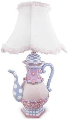 Love this lamp! Wonder if I could make it. Alice in Wonderland themed base