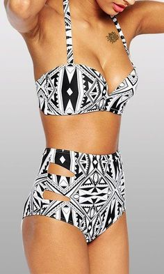 great graphic tribal print bikini