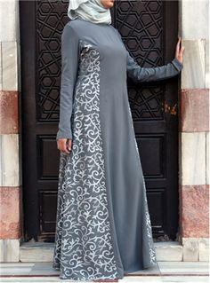Arabesque Embroidered Gown - SHUKR International
