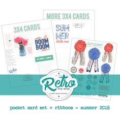Retro Hip Magazine printable set - Summer 2018 // pocket cards    #projectlife #pocketscrapbooking  #craftymagazine #magazineonline #retrohipmama