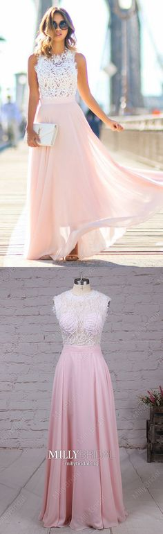 Long Formal Dresses A-line, Lace Formal Dress Pink, Chiffon Evening Dresses For Teens, Long Formal Dresses Modest Semi Formal Dresses For Teens, Prom Dresses Long Modest, Simple Prom Dress, Chiffon Evening Dresses, Cheap Prom Dresses, Trendy Dresses, Women's Fashion Dresses, Party Dresses, Dress Formal