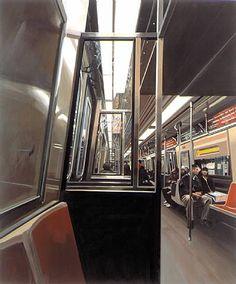 Richard Estes On the A Train ; 2003