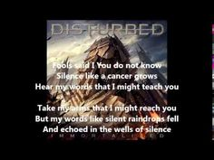 Disturbed The Sound Of Silence Lyrics