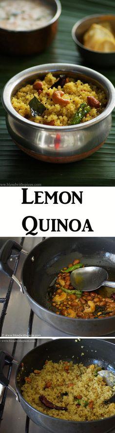 Lemon Quinoa Recipe - How to Make Quinoa Lemon Pulihora Recipe