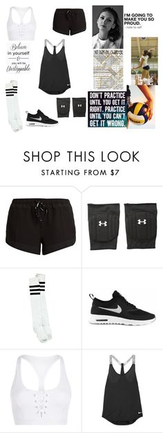 """""""OC challenge: Day eleven, playing a sport."""" by gracenerada ❤ liked on Polyvore featuring Beautiful People, The Upside, Under Armour, Boohoo, NIKE and Lorna Jane"""