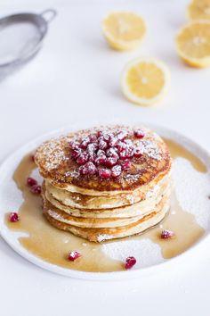 Lemon Ricotta pancakes at the Peninsula Beverly Hills