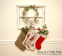 Old window stocking hanger...cute!