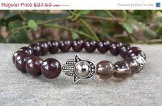 VALENTINE SALE Mens Blessing Hamsa Bracelet by Braceletshomme