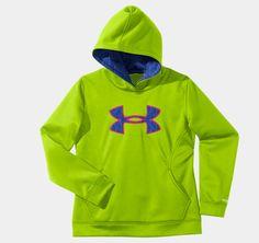 Girls' Armour® Fleece Storm Big Logo Hoodie | 1239166 | Under Armour US