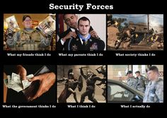 What people think I do in Security Forces