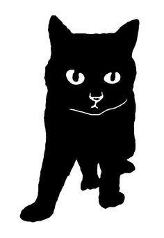 black cat stencil - Google Search