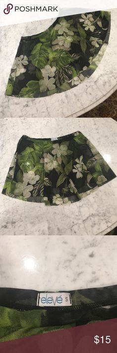 Eleve Dancewear Skirt Lovely flower print Eleve dance skirt. Worn a few times but great quality and shape. Flows beautifully while in movement. Eleve Dancewear Other