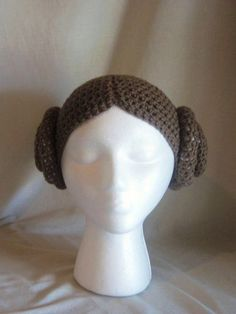 Princess Leia Hair Crochet Hat... If only it were knitted @Liz Mester Mester…