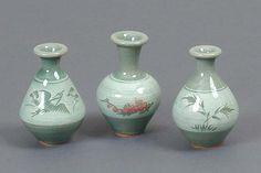 Miniature Celadon Vase Set - small