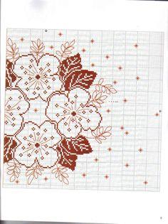 un solo color (pág. Cross Stitch Animals, Cross Stitch Flowers, Cross Stitch Designs, Cross Stitch Patterns, Embroidery Patterns, Knitting Patterns, Cross Stitching, Blackwork, Needlepoint