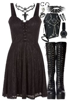 To the center of the city where all roads meet, waiting for you. Cute Emo Outfits, Bad Girl Outfits, Edgy Outfits, Teen Fashion Outfits, Grunge Outfits, Look Fashion, Rock Outfits, Lolita Fashion, Fashion Boots