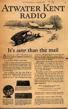 Atwater Kent's Radio – Atwater Kent Radio: It's surer than the mail (1928)