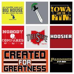 Parody t-shirt designs for Big 10 fans at www.kjvapparel.com!