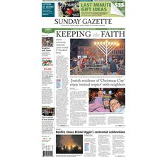 Taunton Daily Gazette front page for Sunday, Dec. 9, 2012.