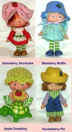 Strawberry Shortcake & Friends - I LOVED them and carried them everywhere with me. 90s Childhood, My Childhood Memories, Retro Toys, Vintage Toys 80s, Baby Twins, Babies, Best Memories, Huckleberry Pie, Vintage Strawberry Shortcake Dolls