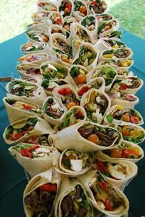 Blue Mountain Bistro-To-Go's Sandwich Platter of assorted #sandwiches, wraps or #paninis  Includes apple-radish slaw #lunch #catering #HudsonValley #Catskills #vegetarian #vegan