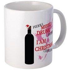 Merry Drunk, I am Christmas 11 oz Ceramic Mug Merry Drunk, I am Christmas Mugs by Adrianne_Desire - CafePress Christmas Mugs, Mug Designs, Drinkware, Merry, Ceramics, Tableware, Christmas Mug Rugs, Ceramica, Tumbler