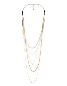 Bershka Slovenia -Multi-chain plate necklace