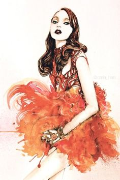 Illustration.Files: Alexander McQueen S/S 2012 by Carla Han