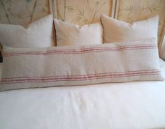 FRENCH LAUNDRY  16x54 super long  Sofa Pillow  in RED by yiayias, $125.00