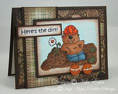 Here's the Dirt by NikiE - Cards and Paper Crafts at Splitcoaststampers High Hopes, Fun Challenges, Basic Grey, Copic Markers, Gift Tags, Card Stock, Paper Crafts, Cool Stuff