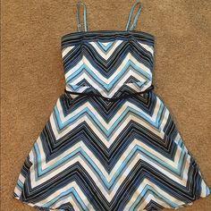 Fit and flare mini Detachable straps with belt. Never worn White House Black Market Dresses Mini