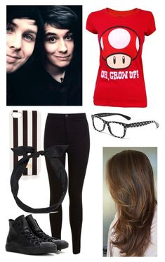 """with Dan and Phil :)"" by audrey-panda ❤ liked on Polyvore featuring Miss Selfridge, Dolce&Gabbana, Converse, Henri Bendel and yunotme"
