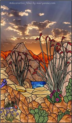 1000 Images About Southwestern Stained Glass On Pinterest