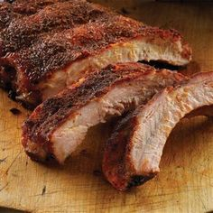 Slow & Low Memphis Pit BBQ Ribs: Use Grill Mates® Slow & Low BBQ Rub, a Memphis pit inspired blend of brown sugar, onion and spices, for slow and low barbecuing at home. Bbq Ribs, Ribs On Grill, Pork Ribs, Pork Chops, Bbq Pork, Rib Recipes, Grilling Recipes, Cooking Recipes, Grilling Ideas
