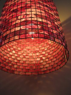 COFFEE FILTER ART - Lighting Hanging Light Chandelier woven into wire and coated with water based varnish  $135 on etsy