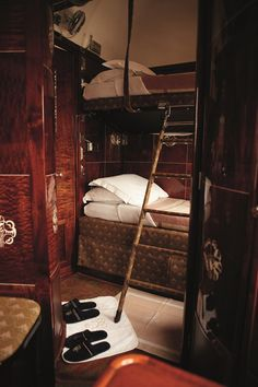 Orient Express Sleeping Cabin. How exciting is this!!! I will do this one day!!!